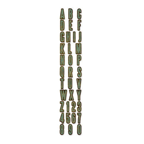 Sizzix - Tim Holtz - Alterations Collection - Sizzlits Decorative Strip Die - Inside Out