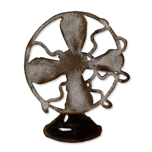 Sizzix - Tim Holtz - Alterations Collection - Bigz Die - Vintage Fan