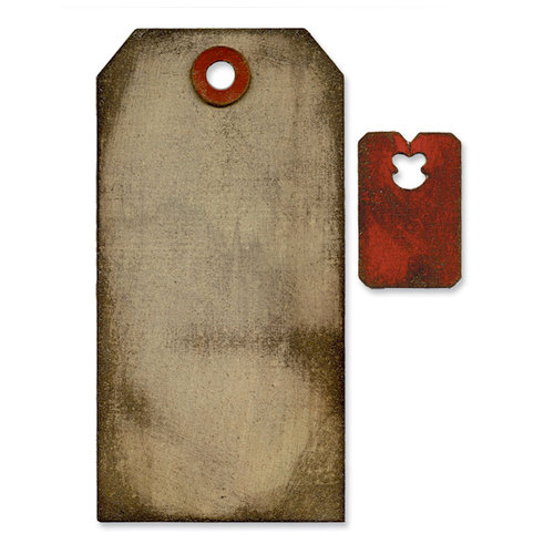 Sizzix - Tim Holtz - Alterations Collection - Movers and Shapers Die - Tag and Tie