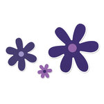 Sizzix - Framelits Die and Repositionable Rubber Stamp Set - Flowers, Daisies