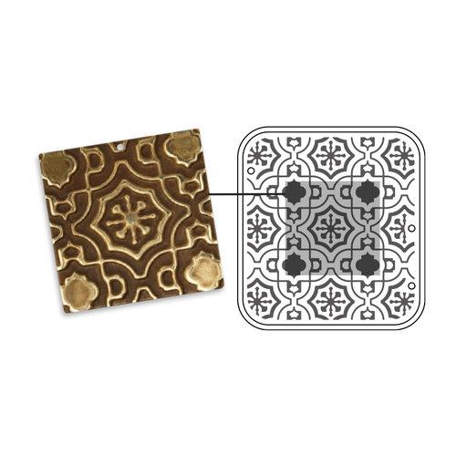 Sizzix - DecoEmboss Die - Vintaj - Embossing Folders - Moroccan Tile