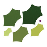 Sizzix - Framelits Die - Christmas - Leaves, Holly and Berry