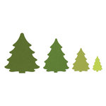 Sizzix - Framelits - Die Cutting Template - Trees, Christmas