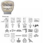 Sizzix - EClips - Tim Holtz - Alterations Collection - Electronic Shape Cutting System - Cartridge - Stamp2Cut - Number 2