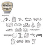 Sizzix - EClips - Tim Holtz - Alterations Collection - Electronic Shape Cutting System - Cartridge - Stamp2Cut - Number 6
