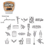 Sizzix - EClips - Tim Holtz - Alterations Collection - Electronic Shape Cutting System - Cartridge - Stamp2Cut - Number 12