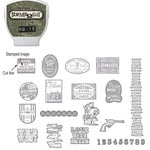 Sizzix - EClips - Tim Holtz - Alterations Collection - Electronic Shape Cutting System - Cartridge - Stamp2Cut - Number 15