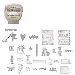 Sizzix - EClips - Tim Holtz - Alterations Collection - Electronic Shape Cutting System - Cartridge - Stamp2Cut - Number 18