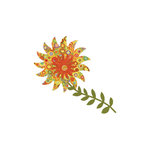 Sizzix - Bigz Pro Die - Quilting - Flower, Piccadilly Sunflower