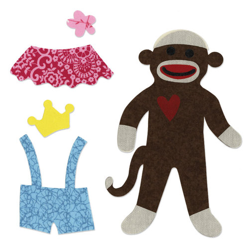 Sizzix - Bigz Pro Die - Quilting - Sock Monkey