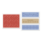 Sizzix - Textured Impressions - Christmas - Embossing Folders - Holiday Damask Set