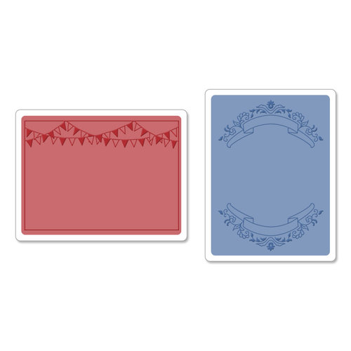 Sizzix - Textured Impressions - Embossing Folders - Mini Banners Set