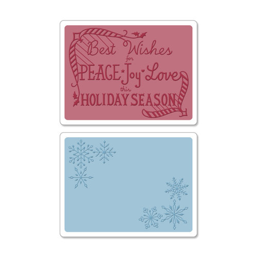 Sizzix - Textured Impressions - Christmas - Embossing Folders - Snowflake Season Set