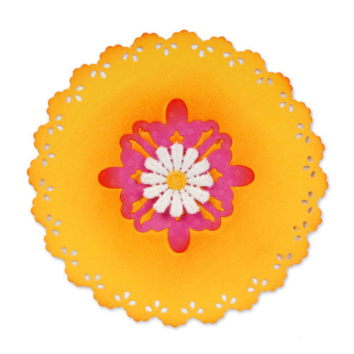 Sizzix - Home Entertaining Collection - Sizzlits Die - Large - Card, Scallop Circle Insert