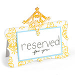 Sizzix - Home Entertaining Collection - Bigz Die - Place Card with Decorative Accent