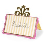 Sizzix - Bigz Die - Home Entertaining Collection - Die Cutting Template - Place Card with Decorative Accent 2