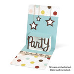 Sizzix - Pop 'n Cuts Die - 3-D Pop Up - Phrase, Party