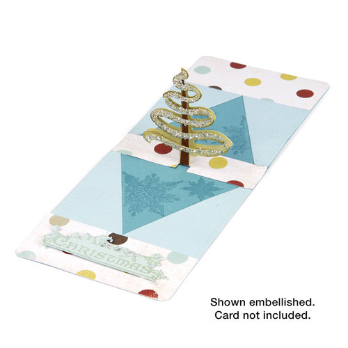 Sizzix - Pop 'n Cuts Die - 3-D Pop Up - Tree, Ribbon