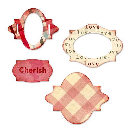 Sizzix - From the Heart Collection - Sizzlits Die - Medium - Lovely Labels Set