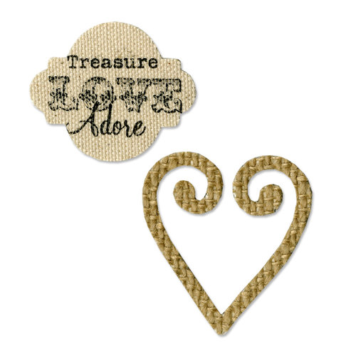 Sizzix - From the Heart Collection - Movers and Shapers Die - Heart and Label Set