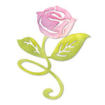 Sizzix - Botanical Sanctuary Collection -Sizzlits Die - Large - Flower, Rose with Stem and Leaves