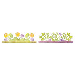 Sizzix - Botanical Sanctuary Collection - Sizzlits Decorative Strip Die - Card Edges, Botanical and Rose Garden