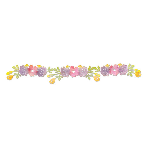 Sizzix - Botanical Sanctuary Collection - Sizzlits Decorative Strip Die - Flower Vine 2