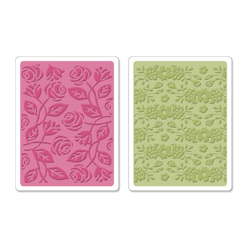 Sizzix - Textured Impressions - Botanical Sanctuary Collection - Embossing Folders - Garden Set