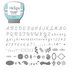 Sizzix - EClips - Electronic Shape Cutting System - Cartridge - Sweet Threads and Alphabet