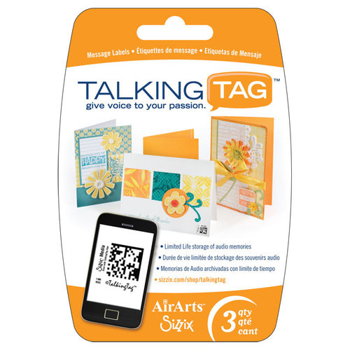 Sizzix - Air Arts - Talking Tag Audio Message Labels - 3 Pack