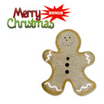 Sizzix - Basic Grey - Nordic Holiday Collection - Bigz and Sizzlits Die - Gingerbread Man and Merry Christmas