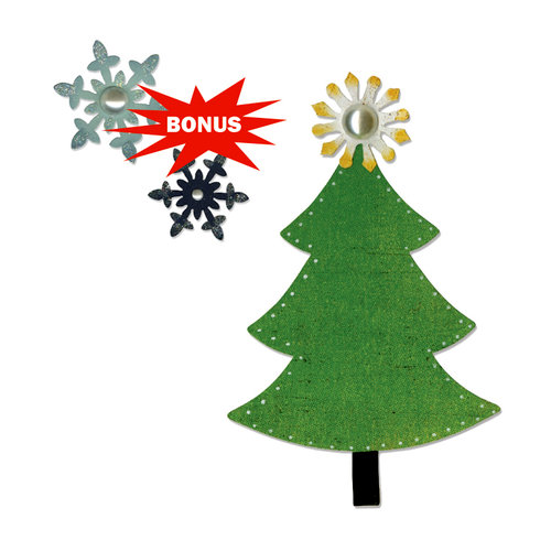 Sizzix - Basic Grey - Nordic Holiday Collection - Bigz and Sizzlits Die - Tree and Snowflakes