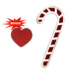 Sizzix - Basic Grey - Nordic Holiday Collection - Bigz and Embosslits Die - Candy Canes and Heart
