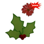 Sizzix - Basic Grey - Nordic Holiday Collection - Bigz and Embosslits Die - Holly and Poinsettia