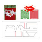 Sizzix - BasicGrey - Nordic Holiday Collection - Bigz XL Die and Embossing Folder - Card, A2 with Flap and Holiday Cross Stitch and Pattern Set