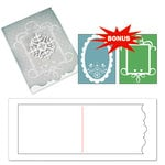 Sizzix - Basic Grey - Nordic Holiday Collection - Bigz XL Die and Embossing Folder - Card, Ornate 3 and Frames Set