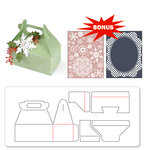 Sizzix - Basic Grey - Nordic Holiday Collection - Bigz XL Die and Embossing Folder - Carry All Box and Let it Snow Set