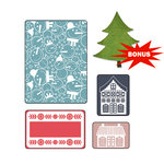 Sizzix - Basic Grey - Nordic Holiday Collection - Sizzlits Die and Embossing Folder - Snowmen Set