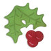 Sizzix - Holiday Collection - Embosslits Die - Christmas - Small - Holly and Berries