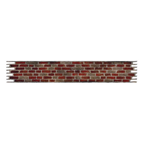 Sizzix - Tim Holtz - Alterations Collection - Sizzlits Decorative Strip Die - Brick Wall