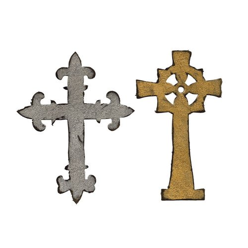 Sizzix - Tim Holtz - Alterations Collection - Bigz Die - Ornate Crosses