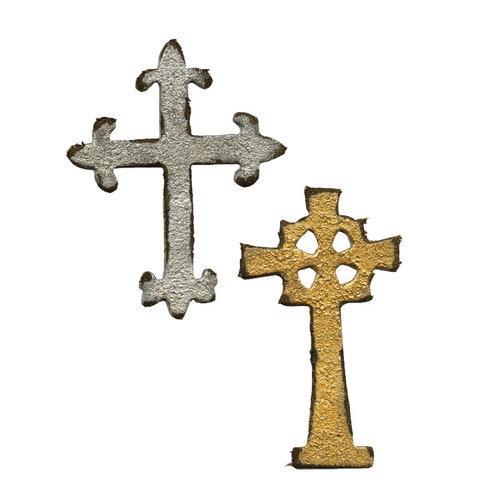 Sizzix - Tim Holtz - Alterations Collection - Movers and Shapers Die - Mini Ornate Crosses
