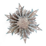 Sizzix - Tim Holtz - Alterations Collection - Sizzlits Decorative Strip Die - Snowflake Rosette
