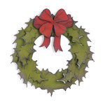 Sizzix - Tim Holtz - Alterations Collection - Bigz Die - Holiday Wreath