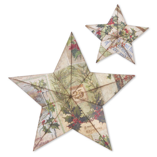 Sizzix - Tim Holtz - Alterations Collection - Bigz Die - Large - Star Bright, 3-D