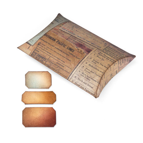 Sizzix - Tim Holtz - Alterations Collection - Movers and Shapers Die - Large - Pillow Box with Labels