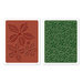 Sizzix - Tim Holtz - Texture Fades - Alterations Collection - Christmas - Embossing Folders - Textured Poinsettia Pattern Set