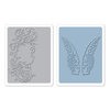 Sizzix - Tim Holtz - Texture Fades - Alterations Collection - Embossing Folders - Flourish and Wings Set