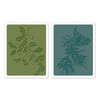 Sizzix - Tim Holtz - Texture Fades - Alterations Collection - Embossing Folders - Holly Branch and Pine Branch Set