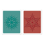 Sizzix - Textured Impressions - Hero Arts - Embossing Folders - Snowflakes Set